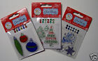 Clearance Christmas Cling Stamps Assortment of 12 Designs Acrylic You Choose