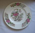 Vintage Wedgwood England Dinner Plate Cathay Pink Blue Flowers Blue Birds #W4053