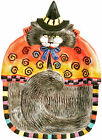 FITZ & FLOYD KITTY WITCHES HALLOWEEN CANAPE COLLECTORS PLATE CAT