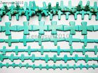 Blue Howlite Turquoise Gemstone Cross Loose Beads 16 Strand Pick Sizes