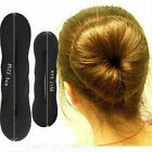2pcs Magic Foam Black Sponge Clip Hair Bun Styling Donut Bun Former Twist Maker