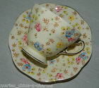 EB FOLEY COALPORT HAND PAINTED TEACUP TEA CUP AND SAUCER ENGLAND BONE CHINA