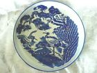 Unusual Large Blue Willow Design Round Pasta Bowl / Plate / Platter