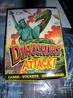 Dinosaurs Attack! Topps Trading Card Box 48 Packs Cards Stickers Bubble Gum NIB