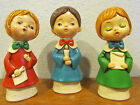 Set of 3 Vintage Christmas Carolers Paper Mache Made in Japan