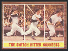1962 TOPPS BASEBALL CARD #319 MICKEY MANTLE IN ACTION NEW YORK YANKEES