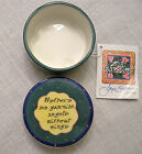 JOYCE SHELTON CERAMIC ROUND TRINKET BOX FROM