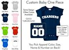 Chargers Baby One Piece - Custom Name and Number, Creeper, Onesie