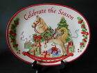 Fitz & Floyd Celebrate The Season Oval Christmas Tray  Rocking Horse Holiday