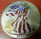 1 oz fine silver one dollar 2001 new