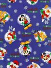 1 yard_Springs creative_quilt fabric_mickey mouse_pluto_snow_FREE US SHIP