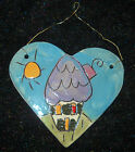 Studio Art Pottery painting Sandra Magsamen Home Heart plaque wall hanging decor