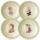 Set of 4 Pfaltzgraff Circle Of Kindness Topsy Turvy Appetizer Plates Never Used