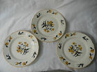 K.T.&K. SET OF 3 PLATES VINTAGE WITH BIRDS AND FLOWERS