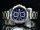 New Seiko SKS399 Chronograph Stainless Steel Blue Dial Men's Watch