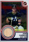 Topps Jose Canseco Signed Autograph Game Used Bat Relic Athletics A's Insc COA