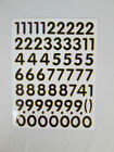 Black Number Stickers Self Adhesive 0 9 Gold Borders High 05 inch Blue Silver