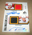 2010-11 UD SP GAME USED DUAL INKED SWEATERS PATRICK KANE & MARIAN HOSSA CARD