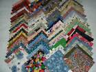 100 4 QUILT SQUARES+FABRIC+QUILTING MATERIAL+ASSORTED COLORS