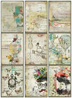 9 STEAMPUNK LADY RECEIPT RETRO VINTAGE 155 lb SCRAPBOOK PAPER CRAFT CARD TAGS