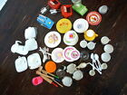 Vintage Huge LOT 80+ pc Set Play toy DISHES TEA Kiddy Matic Corning Ware Tin