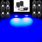 BLUE LED + REMOTE CUSTOM MOTORCYCLE ACCENT LIGHT KIT