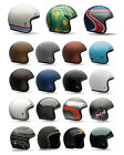 Ships Within 24 Hrs Bell Custom 500 Open Face Motorcycle Helmet Solid Carbon