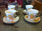 Franciscan October Four Cups and Saucer with the Black Back Stamp  Excellent