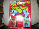 Marvel Comics Vintage THE INCREDIBLE HULK PAINTN PUFF SET F Sealed1978