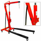 2 Ton Double Pump Folding Hydraulic Cherry Picker  Engine Motor Hoist