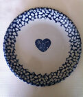 (2) Blue Sponge Plates Folk Crafts Hearts By Tienshan, Several Available