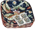 222 Fifth Fahime Set of FOUR Appetizer Plates -Fine China, Navy Blue ~ NEW