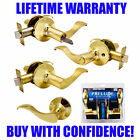 Constructor Prelude Polished Brass Lever Lock Set Entry Privacy Passage Dummy