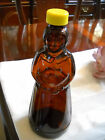 Aunt Jemima Vintage Brown Glass With Yellow Lid Pancake Syrup Bottle Collectors