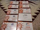 1999-2008 Complete Set of Silver Proof Sets, Includes all 50 State Quarters