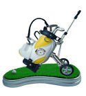 Novelty Golf Bag 3 Pen Clubs Clock Stand Gift 4 Dad Father Corporate Day Bull