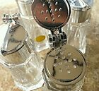 Vintage Crystal Salt  Pepper Shakers Thieco W Germany