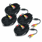 4 pcs 100 ft Dual Video Power Cable for CCTV Surveillance Video Security System