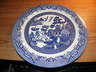 CHURCHILL ENGLAND BLUE WILLOW LARGE SERVING PLATTER PLATE CHOP PLATE 12 3/4 IN