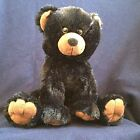 Re-recordable Push Button Sound Module Black Plush Bear - 15 inch Tall