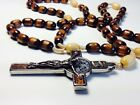 TOP Rosary blessed by St Pope John Paul II & Pope Francis & Pope Benedict 3 COA