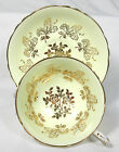 ELEGANT YELLOW PARAGON BONE CHINA CUP & SAUCER GOLD GILDED MINT!