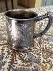 Meriden Silver Quadruple Plate USA Antique Cup Plated 3 1/2 inches tall
