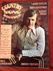 Vintage! JOHNNY PAYCHECK  PHOTO Covers 1974 ROUNDUP 4 Page Feature GREAT PHOTOS