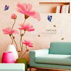 Removable Butterfly Flowers PVC Mural Art Decal Wall Sticker Room Home Decor DIY