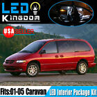 18 PCS Xenon White LED Lights Interior Package Deal for 2001-2005 Dodge Caravan