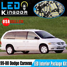 15 PCS Xenon White LED Lights Interior Package Deal for 1999-2000 Dodge Caravan