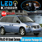 16 PCS White LED Lights Interior Package Deal for 2002-2004 Dodge Grand Caravan