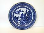 Antique Blue Willow Spode Copeland Porcelain Plate, Circa 1870