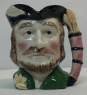 Vintage Robin Hood Ceramic Toby Character Mug w/ Blue Crown Mark